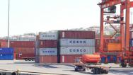Seaport and Container ship Stock Footage