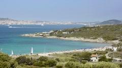 Maddalena archipelago and la sciumara beach, Sardinia, Italy Stock Footage
