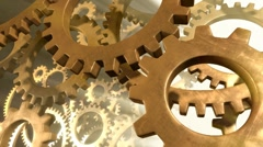 Gears in Motion - Closeup Stock Footage