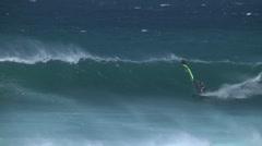 Hookipa, Maui windsurfing Stock Footage