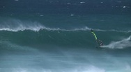 Stock Video Footage of Hookipa, Maui windsurfing