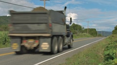 Dump Truck on Rural Highway Stock Footage