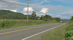 White Pickup on Rural Highway Stock Footage