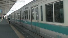 Tokyo train station platform timelapse Stock Footage