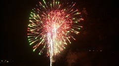 Fireworks finale 2011 Stock Footage