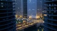 Chicago Sunrise Time Lapse Stock Footage