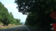 Two lane road Stock Footage