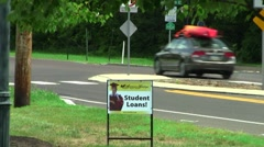 student loans sign - stock footage