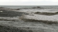 Storm Surge Waves During Tropical Storm Stock Footage