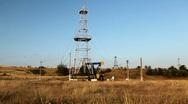 HD Fossil Fuel Energy, Oil Pump, Pumpjack, Old Pumping Unit, Jack Pump, Donkey Stock Footage