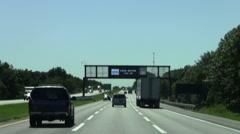 NJ distress number sign - stock footage
