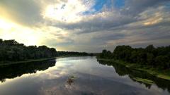 Timelapse summer landscape of rivers. Stock Footage