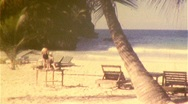 Stock Video Footage of Tropical Beach Circa 1960 (Vintage Film 8mm Home Movie Footage) 439