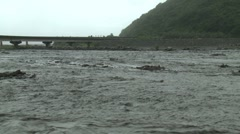 River Flooding After Tropical Storm Stock Footage