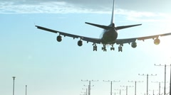 Jumbo Jet Landing Stock Footage
