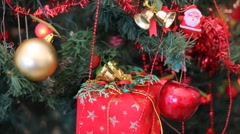 Decorating Christmas tree Stock Footage