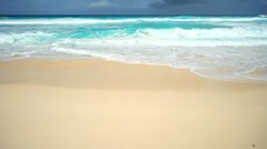 sandy beach - stock footage