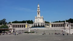 Sanctuary of Fatima Portugal Stock Footage