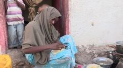 Somalia: Food Prep Stock Footage