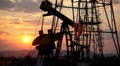 HD Fossil Fuel Energy, Oil Pump, Pumpjack, Old Pumping Unit, Jack Pump, Sunset Footage