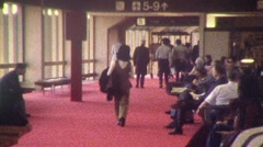 People AIRPORT LAX PASSENGER TERMINAL Lobby 1970s Vintage Film Home Movie 452 Stock Footage