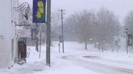 Vehicle Driving in Snow Stock Footage