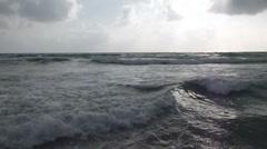 Waves on a sandy beach Stock Footage