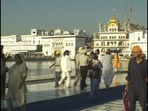 Stock Video Footage of Amritsar Sikh Golden Temple India