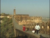 Stock Video Footage of Jaighar Fort Jaipur Rajasthan India