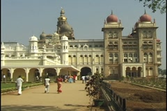 Palace of Mysore, India Stock Footage