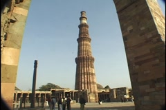 Qutb Minar Tower Delhi India - stock footage