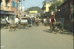 Traffic in Varanasi, India Stock Footage