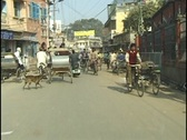Stock Video Footage of Traffic in Varanasi, India