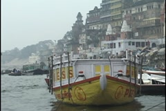 Ghats, Varanasi, India, on Ganges River - stock footage