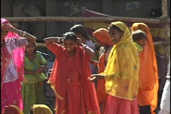 Women at the Pushkar Camel Fair, Pushkar, India Stock Footage
