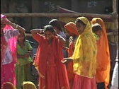 Stock Video Footage of Women at the Pushkar Camel Fair, Pushkar, India