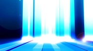 Stock Video Footage of Blue Bars With Flares Looping Animated Background