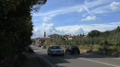 Tuscany traffic on highway Stock Footage