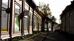 Unesco Scandinavia Finland Rauma old town - stock footage