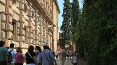 Alhambra palace Carlos I Stock Footage