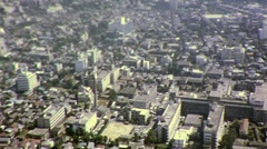 Hiroshima Japanese City from Descending Plane 1960s Vintage Film Home Movie 456 Stock Footage