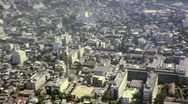 Stock Video Footage of Japanese City from Descending Plane Circa 1965 (Vintage Film Home Movie) 456