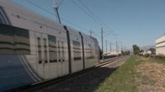 Trax train going slow utah UTA Stock Footage