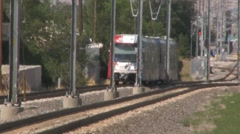 Trax Train Shuttle Rail Utah UTA - stock footage