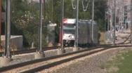 Trax Train Shuttle Rail Utah UTA Stock Footage