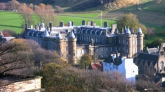 Royal palace of Holyroodhouse in Edinburgh Stock Footage