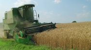 Combine Harvesting Wheat 05 Stock Footage
