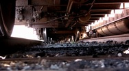 Under a Train on the Trax Stock Footage