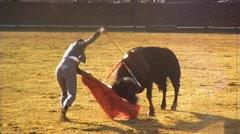 BULLFIGHT MATADOR Kills BULL ARENA Fight 1970s Vintage Film Home Movie 471 Stock Footage