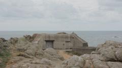 World War 2 bunker Stock Footage